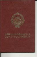 SFRJ  --  YUGOSLAVIA  ---  PASSPORT   --  LADY FOTO  --   1980 - Historische Dokumente