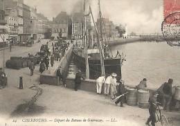 Départ Du Bateau De Guernesey - Cherbourg