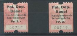 917 - BASEL Fiskalmarken - Steuermarken