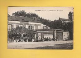 * CPA..dépt 95..AUVERS Sur OISE  :  Le Restaurant De La Gare   : Voir Les 2 Scans - Auvers Sur Oise