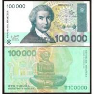 CROATIA : 100000 Dinara Del 1993   Pick 27   FdS  UNC - Croatia