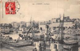 LORIENT -  Les Quais ,tres Animée ( Edts Laurent -739 ) - Lorient