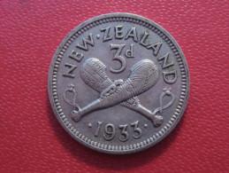 Nouvelle-Zélande - 3 Pence 1933 George V 5583 - Nouvelle-Zélande