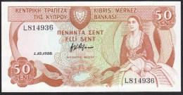 Cyprus 50 Cent1988 P52 UNC - Chypre