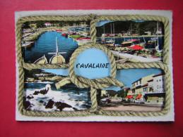 CPSM  CAVALAIRE  MULTI VUES  SOUVENIR DE CAVALAIRE      VOYAGEE 1961 TIMBRE - Cavalaire-sur-Mer