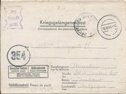 LT4317   Correspondance Des Prisonniers De Guerre, A L´interieur 3 Volets D´écriture - Guerre 1939-45
