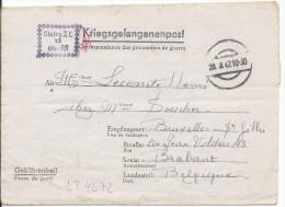 LT4272   Correspondance Des Prisonniers De Guerre, A L´interieur 3 Volets D´écriture - War 1939-45