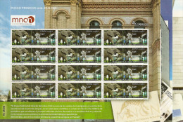 2016-ED. 5034 A 5036 SERIE COMPLETA EN PLIEGO PREMIUM- Museos. MNCC, MACBA E IVAM - Mismo Numero-NUEVO - Blocs & Feuillets
