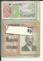 CROATIA, ZAGREB   --  ZET  ( ZAGREB ELEKTR. TRAMWAY )   --  TRAMWAY  --  WORKERS PASS  --  YEAR 1984 - Strassenbahnen