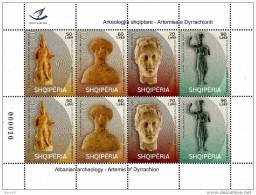 Albania Stamps 2014. Archeology. Artemis Of Dyrrachion. Full Sheet MNH - Albania