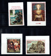 HAUTE VOLTA  Tableaux: Gauguin, Metsys, Holbein, Le Nain  Poste Aérienne Non Dentelés ** Sans Charnière - Obervolta (1958-1984)