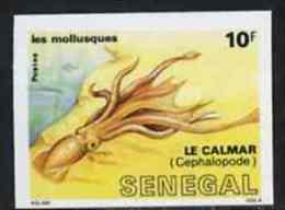 Senegal 1988, Molluscs 10f Squid IMPERFORATED - Fishes