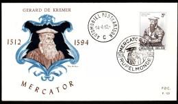 Belgium Rupelmonde 1962 Gerardus Mercator Cartographer Belgian French Roman Empire Cartographer - Celebridades