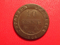 10 Centimes 1808 A Paris Napoléon 8499 2.3g - France