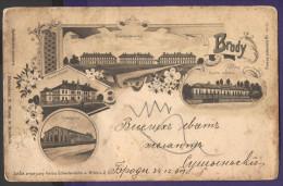 5620 Ukraine Poland Brody Lviv Lwow Region 1901 Military Building  Litho - Ukraine