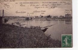Les Rosiers-sur-Loire.. Le Pont Suspendu Bateau Péniche Batellerie Gabare Indications Précieuses Sur La Cpa - Other Municipalities