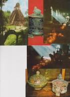 AB / Lot 5 CPM  9x14 . GUATEMALA  Dt Tikal  & Chichicastenango + Vessels - Guatemala