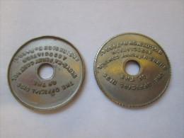 British Token - TWO Shove Ha'Penny Coins - Professionali/Di Società