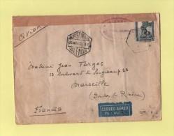 Espagne - Par Avion Destination France - Censure - Control Oficial Valencia - 20 Nov 1936 - Valence - Bolli Di Censura Nazionalista