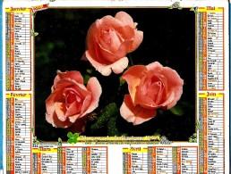 ALMANACH DES P.T.T 1992 (80)   -  Complet ** 3 ROSES - FLEURS MULTIPLES ** Calendrier *OLLER * N° 232 - Calendriers