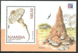 Namibia - Namibie  Blocs Champignon  Neuf ** 1999 Termotomyces Schimperi - Ejova - Omajova - - Pilze
