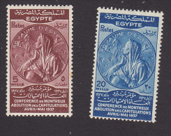 Egypt, Scott #217, 219, Mint  Never Hinged, Medal For Montreux Conference, Issued 1937 - Ägypten