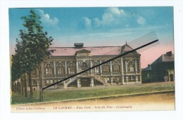 CPA -  Le Cateau  - Place Verte - Salle Des Fêtes - Gendarmerie - Le Cateau