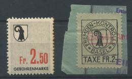 919 - BASEL Fiskalmarken - Steuermarken