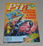 Pif Gadget N° 1071 De 1989 Edition Vaillant Avec Poster Astérix Et Le Coup Du Menhir - Pif Gadget