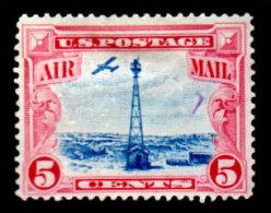 USA, 1928, Scott #C11, Beacion Tower, Airmaiil 5c, Unused, OG, H, F - Air Mail