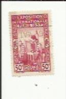 Timbre 50 Cts-Exposition Internationale De Paris_ G F _Perforé ( C  L )  Bon Etat 1937 - Argelia (1962-...)