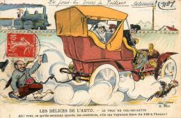 """Xavier SAGER - Illustrateur - """" Les Délices De L'Auto - Le Truc Du Cul De Jatte """" - N°5 - Sager, Xavier"""