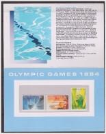 Australia 1984 Presentation Pack Olympic Games Los Angeles - Presentation Packs