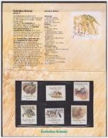 Australia 1986 Presentation Pack Wallaby Wombat Possum Rat Endanfered Siecies - Presentation Packs
