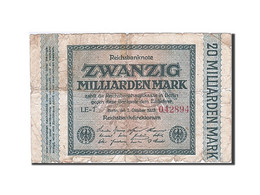 Allemagne, 20 Milliarden Mark, 1923, KM:118a, 1923-10-01, B - [ 3] 1918-1933: Weimarrepubliek