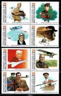 """Micronesia     """"Pioneers Of Fligt""""     Set    SC# 155ah   (2 Block Of 4)    MNH** - Micronesia"""