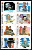 "Micronesia     ""Pioneers Of Fligt""     Set    SC# 200   ( Block Of 8)    MNH** - Micronesia"