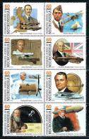"Micronesia    ""Pioneers Of Flight""    Set   (block Of 8)    SC# 233    MNH** - Micronesia"