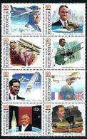 "Micronesia    ""Pioneers Of Flight""     Set   (block Of 8)   SC# 249    MNH** - Micronesia"