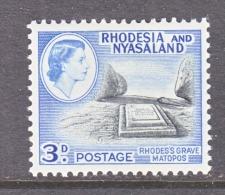 RHODESIA & NYASALAND  162  *  GRAVE - Rhodesia & Nyasaland (1954-1963)