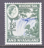 RHODESIA & NYASALAND  164  *    VICTORIA  WATERFALLS - Rhodesia & Nyasaland (1954-1963)