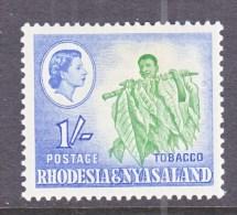 RHODESIA & NYASALAND  165  *    TOBACCO - Rhodesia & Nyasaland (1954-1963)