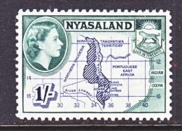 NYASALAND  106     **   MAP - Nyasaland (1907-1953)