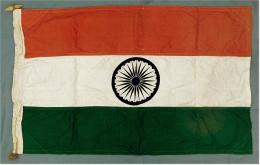 Original Schiffs-Flagge Indien - 1970er Jahre - Material : Baumwolle - Ca. 88 X 56 Cm - Boats