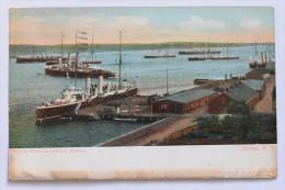 BRITISH FLEET IN HALIFAX HARBOR, NOVA SCOTIA, CANADA (damaged) - Halifax