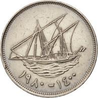 Kuwait, Jabir Ibn Ahmad, 100 Fils, 1980, TTB, Copper-nickel, KM:14 - Koweït