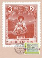 "LIECHTENSTEIN 2005 : Carte Maximum "" TIMBRE SUR TIMBRE - VOIR LE SCAN "". Parfait état. CM - Briefmarken Auf Briefmarken"
