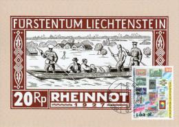 "LIECHTENSTEIN 2002 : Carte Maximum "" TIMBRE SUR TIMBRE - VOIR LE SCAN "". Parfait état. CM - Briefmarken Auf Briefmarken"