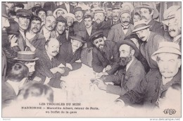 16-176 Narbonne Marcellin Albert Retour De Paris Au Buffet De La Gare - Demonstrationen