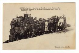 Cpa SIXT Ascension Au Mont Buet Par La Fanfare De Sixt 30 Aout 1925 - Sixt-Fer-à-Cheval